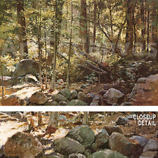 """36""""x24"""" SUNLIT FOREST (YOSEMITE) by JEROME GRIMMER PEACEFUL LANDSCAPE CANVAS"""