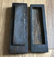 Vintage Carpenters Natural Sharpening Stone Oil Stone In Handmade Wooden Box