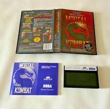 Mortal Kombat-Sega Master System Spiel-komplett mit Handbuch-UK Pal