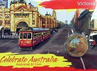 2009 $1 CELEBRATE AUSTRALIA VICTORIA Coin on Card