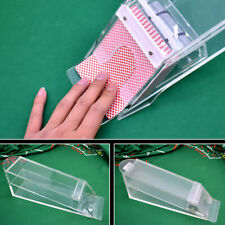 Clear Weighted Wedge Casino ,Clear Playing Card ,Shoe Slider / Dealer
