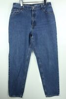 Vintage Levi's 550 Womens Sz 14 Relaxed Fit Tapered Leg Denim Blue Mom Jeans USA