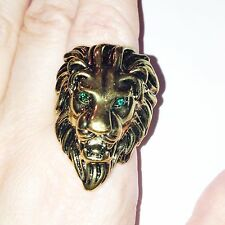 Vintage  retro style bronze lion charm ring Tyrion Lannister Game Thrones Size S