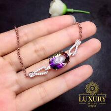 Natural Ametrine 18K Rose Gold Plated 925 Sterling Silver Luxury Women Bracelets