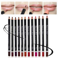 12Pc Women Matte Lip Colour Lipstick Lip Pencil Makeup Cosmetic Liner Lip Pen!