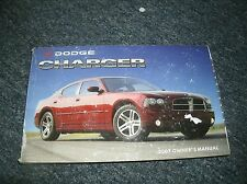 2007 DODGE CHARGER FACTORY ORIGINAL OWNERS OPERATORS MANUAL FOR GLOVE BOX