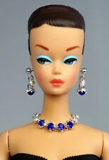 Barbie Doll Repro Vintage FR Handmade Necklace Earrings Jewelry Set NE1790