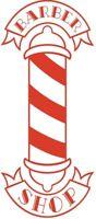 "24"" LARGE barbers pole shop vinyl window wall art door sticker sign barber hair"