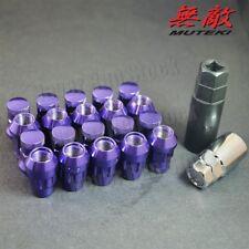 12x1.5 PURPLE MUTEKI SR35 CLOSED END ACORN 20PC TUNER WHEEL LUG NUT HONDA MAZDA