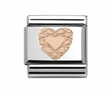 Nomination Charm Rose Gold Diamond Heart