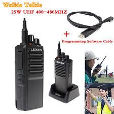 LEIXEN NOTE UHF 400-480MHz 25W 10KM Radios Walkie Talkie + Programming USB Cable