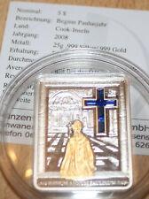 5 Dollar Cook Island silber 2008 Vatikan Beginn Paulusjahr