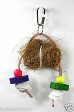 PET BIRD TROPICAL TEASERS COCONUT SHELL TOY FUN ACTIVITY FOR CAGE MEDIUM - LARGE