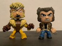 X-Men Bobble-Head Funko Mystery Minis Vinyl Figures Sabretooth & Wolverine