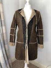 Rare Vintage Antik Batik Hand Finished Ladies 100% Sheepskin Coat, S