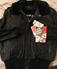 NWT SCHOTT Flight Bomber motorcycle Jacket Cowhide Leather New 184SM Size 44