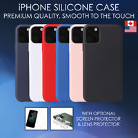 Silicone Case For iPhone 11, Pro, Max, SE, XR Soft Smooth Cover Shockproof Apple