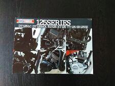 Yamaha dt125lc dt125mx rd125 xt125 ty125 SR brochure dépliant prospectus brochure