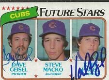 Dave Geisel & Karl Pagel 1980 Topps Autograph RC #676 Cubs