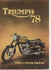 TRIUMPH 78 750 Bonneville Tiger-  4 page Motorcycle Brochure NCS