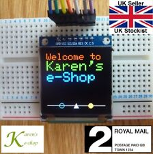 """1.5"""" 128x128 SPI Full Colour SSD1351 OLED LCD Display Module for Arduino & Pi"""