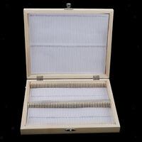 Microscope Slide Storage Wooden Box Specimen Holding 100 Pieces Storage Case