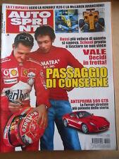AUTOSPRINT n°2 2006 Michael Schumacher Valentino Rossi - Ferrari 599 GTB [P63]