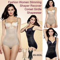 Women Plus Size Underwear Shaper Shapewear Bodysuit Corset Girdle Body Shaper E5