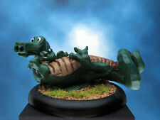 "Painted Classic Miniature PMC ""Roll Over"" Dragon RARE"