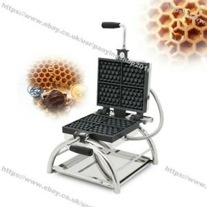 Rotating Nonstick Electric 4pcs Honeycomb Waffle Pop Maker Baker Machine Iron