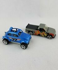 1983 HOT WHEELS Mattel Blue VW Baja Bug  #77 + 1996 Chevy 1500 racer #8