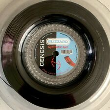 Genesis Blizzard Synthetic Gut 660' Reel 16L Pitch Black -Tennis Racket String