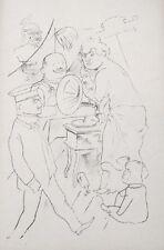 Lithography original - George Grosz - Ecce Homo - Die Macht der Musik - 1923