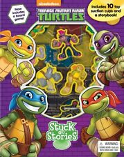 Teenage Mutant Ninja Turtles Stuck On Stories With Board Game + 10 Suction Cups!
