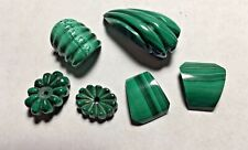 Vintage Designer Rare Carved Genuine Malachite Gemstones Over 150.00 carats!!!