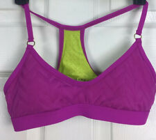Trina Turk Recreation Sz S Purple Green Interior Racerback Bikini Top