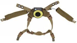 Coyote Brown Ballistic Helmet DIAL Retention System Harness M L XL ACH ECH FAST