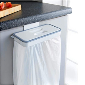 Trash Bag Hanger Kitchen Over the Cabinet Rubbish Holder Bag Bin