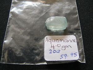 1 x Aquamarine Crystal Rough Gemstones Natural 4.0gms 20ct Uncut #44