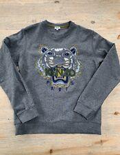 Kenzo Tiger Head Embroidered Black  Sweatshirt Size L