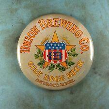 "Vintage Beer Advertising Sign Fridge Magnet 2 1/4"" Union Brewing Co. Detroit"