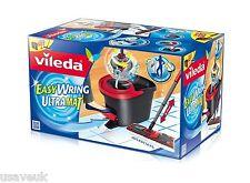 Vileda Easy Wring & Clean Ultramat Flat Mop & Power Spin Wringer Bucket - pedal