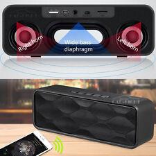 Wireless Bluetooth 4.0 Speaker USB Flash FM Radio Stereo Super Bass MP3 Player