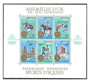 Rwanda, Sc #254, MNH, 1967, S/S, OLYMPICS, SPORTS, MEXICO CITY, FFDD-E