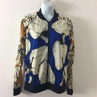 Adidas women's activewear track jacket top Brazilian pattern small NEW msrp $75
