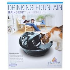 Pioneer Pet Raindrop Ceramic Cat Dog Water Drinking Fountain