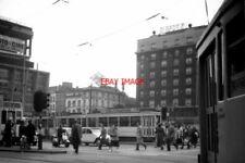PHOTO  BELGIUM TRAM 1959 PLACE ROGIER STIB AND SNCV VARIOUS TRAM  CARS