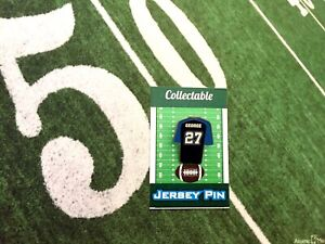 Tennessee Titans Eddie George jersey lapel pin-Classic throwback Collectable
