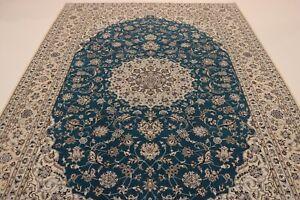 Naini Fine 1,0 Mio, Kn / Qm with Silk Persian Carpet Oriental Rug 3,07 X 2.06