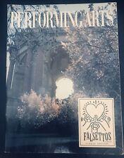 Falsettos Curran Playbill 1993 Tour San Francisco Gregg Edelman Carolee Carmello